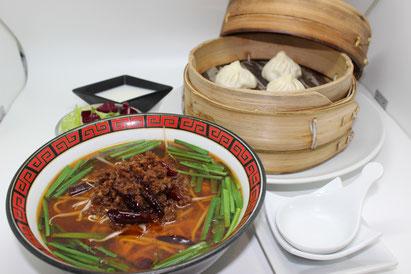 【豚肉とニラのピリ辛麺セット】