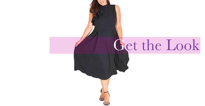 elegantes Cocktailkleid schwarz in Größe 50