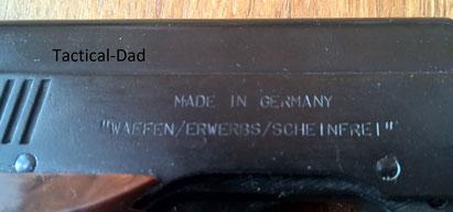 """Die Röhm RG3 und RG3s gab es in unzähligen Varianten, diese Serie hat die Aufschrift """"Waffen/Erwerbs/Scheinfrei""""."""