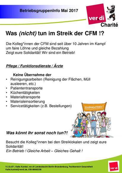 Hier findest du die aktuellen Informationen der ver.di CFM ...