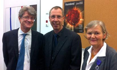 Jean-Claude Tribolet (Generalkonsul), Stefan Alsenz (Schulleiter ASS) und Sabine Denkwitz