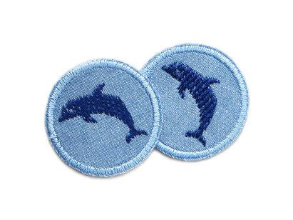 Bild: Delfin Aufnäher Jeansflicken Patch mini zum aufbügeln