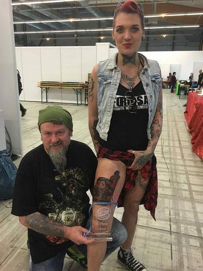 Artist Gerald & Tattoo Model Miss Colourfull