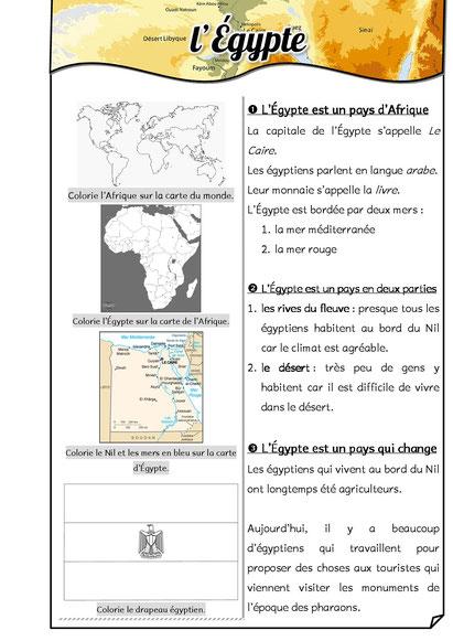 Coloriage Egypte Antique Maternelle.L Egypte Des Pharaons Fiches De Preparations Cycle1 Cycle 2 Ulis