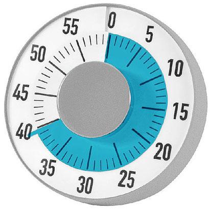 Horloge compte à rebours : apprendre aux enfants selon un temps qui défile.