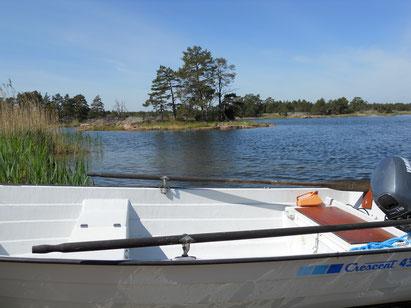 Boot in den Schären Figeholm Schweden