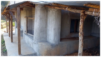 Erdsackhaus im Rohbau