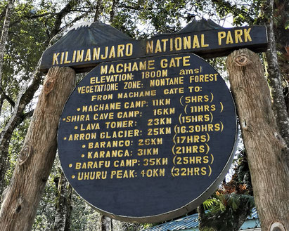 Machame Gate Tansania Safari