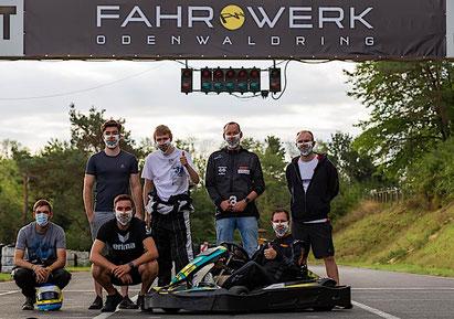 Hessisch Dynamite Racing Team mit Dennis Bröker Kartsport 12 Stunden Schaafheim Hessen