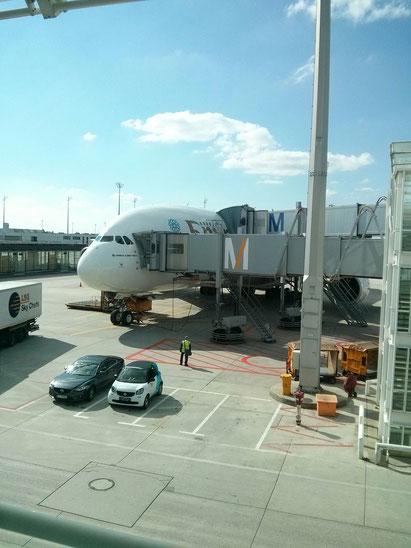 Emirates A380 am Flughafen München