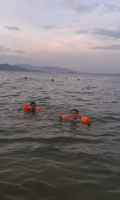 swimming after sunset