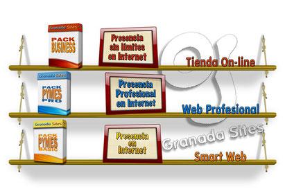Packs de creación y diseño de Páginas Web para Negocios | Granada Sites