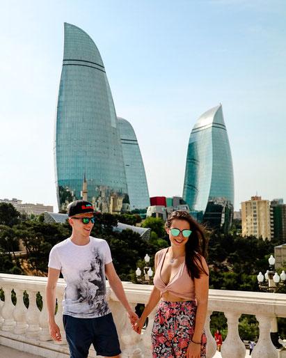 Baku Flame Towers schönste Aussicht