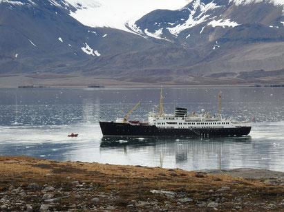 Unser Expeditionsschiff, die MS Nordstjernen, Foto selbst aufgenommen!