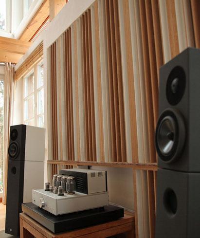 QRD Diffusor Akustik Wohnraum