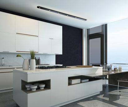 Close in schwarz als Küchenbeleuchtung