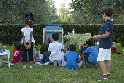 Spettacolo del teatrino dei burattini a roma