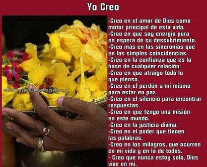 YO CREO - DECLARACIÓN DE FE - PROSPERIDAD UNIVERSAL