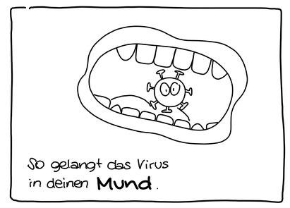 Auszug aus der Version in Schwarzweiß zum selber Ausmalen (Illustratorin: Claudia Esser)