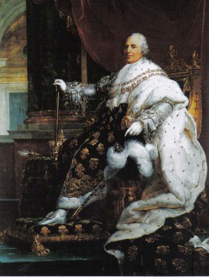 Peinture de Louis XV par Gerard, 1815