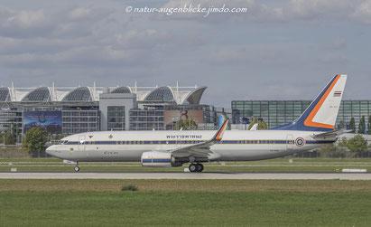 König von Thailand  HS-HMK  B737-800,MUC, München Flughafen, Boeing