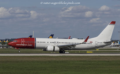 norwegian.com  EI-FJP  B737-800, Boeing, München Flughafen,