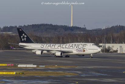 B747 HS-TGW  Thaiair Star Alliance, Boeing, Thai, Flieger
