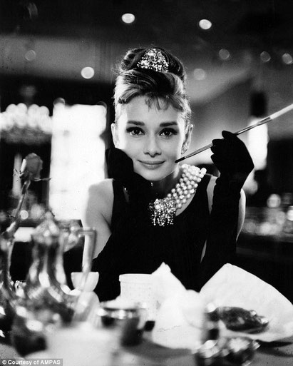 "Audrey Hopbeurne in ""Breakfast at Tiffany's""- Blake Eduards, 1961."