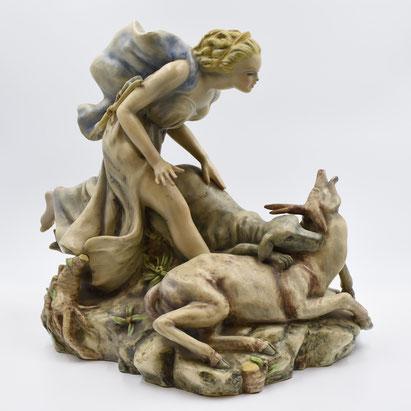 Diana cacciatrice ceramica di Giovanni Petucco