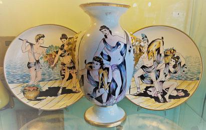 Piatti e Vaso Diana Cacciatrice ALFA Ceramiche