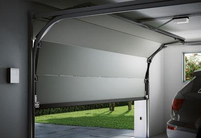 Motorisation de porte de garage sectionnelle habitat