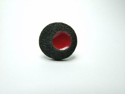 bague ceramique raku inspiration volcan