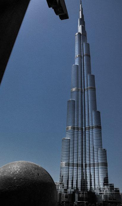 Das zurzeit höchste Gebäude der Welt, der Burj Khalifa in Dubai VAE