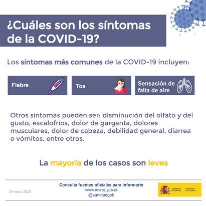 Cuáles son los síntomas de la Covid-19 - Ministerio de Sanidad del Gobierno de España