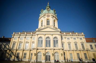 der Haupteingang zum Schloss Charlottenburg