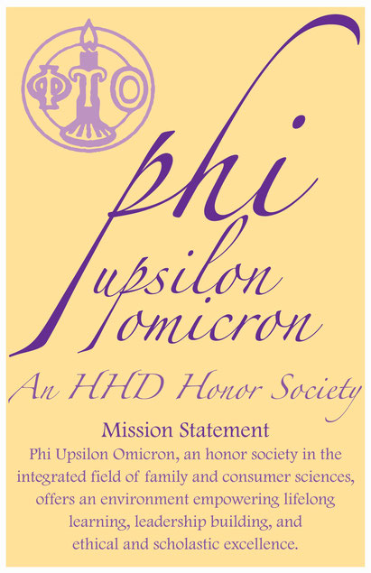 Poster for Phi U bulletin board.