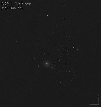 NGC 457 Zeichnung