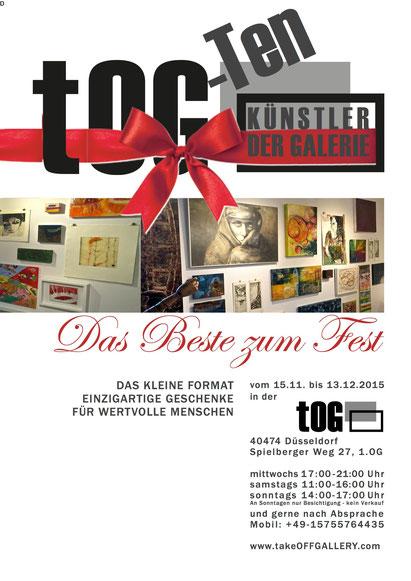 Ausstellungsplakat, Objekte, Zeichnungen, Surramente, abstrakt,Surrealismus, gegenständlich, tOG, take OFF GALLERY, Galerie, Düsseldorf, Kunstraum, art, modern art, Expressionismus,