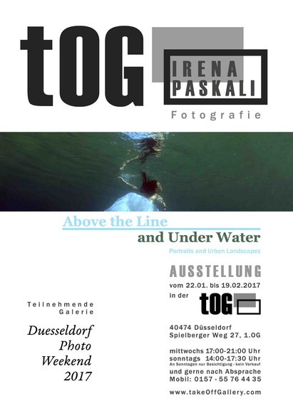 Ausstellungsplakat, Photographien, FotoGrafiken, Above the Line and , Architektur, Photography, tOG, take OFF GALLERY, Galerie, Düsseldorf, Kunstraum, art, modern art, Expressionismus,