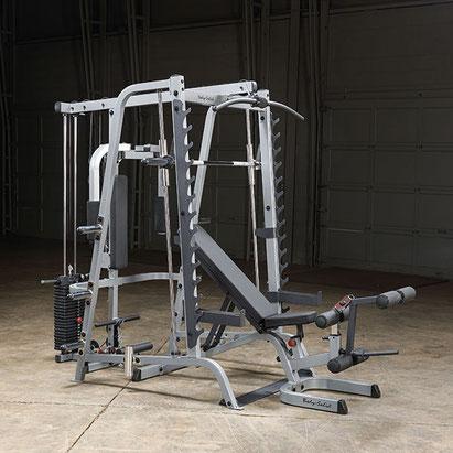 Body Solid Station Multipressen Set 50 mm 7° angewinkelt mit Gun Rack - GS-348P4