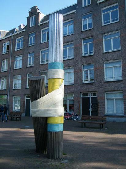 Teken Amsterdam 1984 stainless steel  500 x 140 x 120 cm
