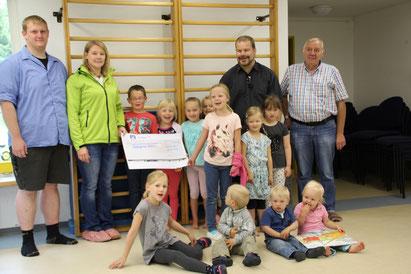 2.500 € für den Kindergarten in Wattenbek