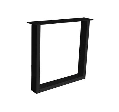 Kufengestell U aus Stahl als Tischgestell für Massivholz Tischuntergestell