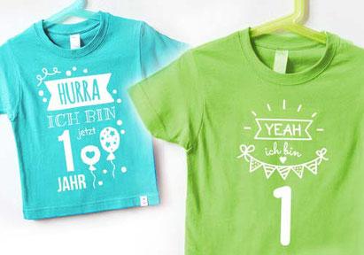 Baby - Geburtstagsshirts -nähfein