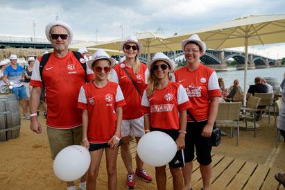 von links: Werner, Isabell und Silvia Homberger, Paula und Sandy Krause