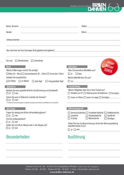 Fragebogen Sehberatung