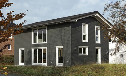 Design example of a 3 bedroom flat pack home from Stommel Haus