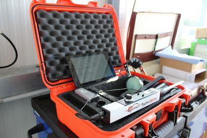 Arbeitsgeräte für die Prüfung mit dem Tacho-Spion