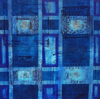 Amador Vallina: Blau im Quadrat | Malerei - Pintura - Painting