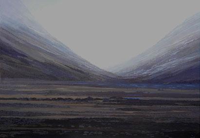 """Martin Guido Becker, """"Schlucht"""", 2007 Öl/Lwd, 70/100 cm"""